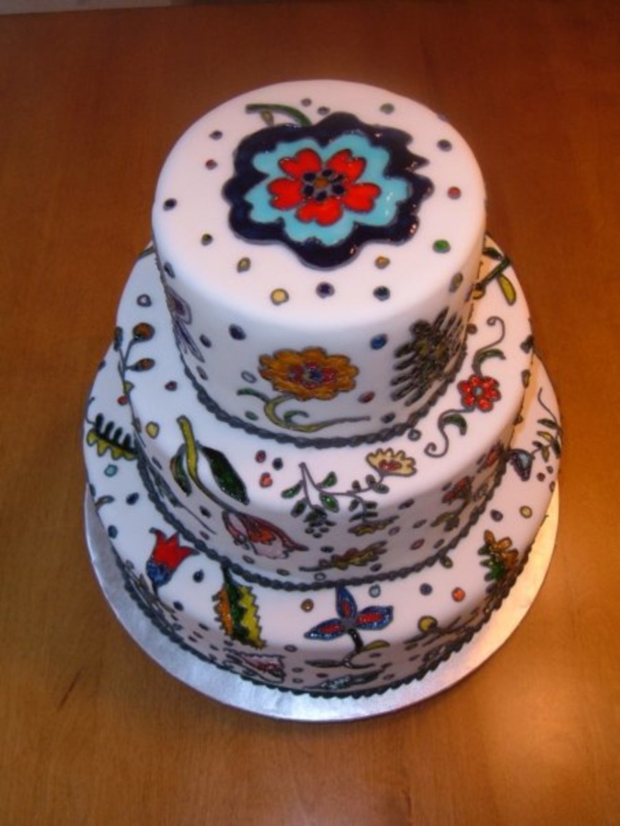 Stained Glass Wedding Cake  CakeCentralcom