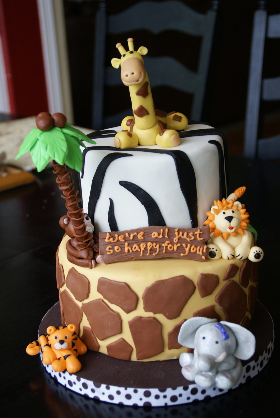 Safari Theme Baby Shower  CakeCentralcom