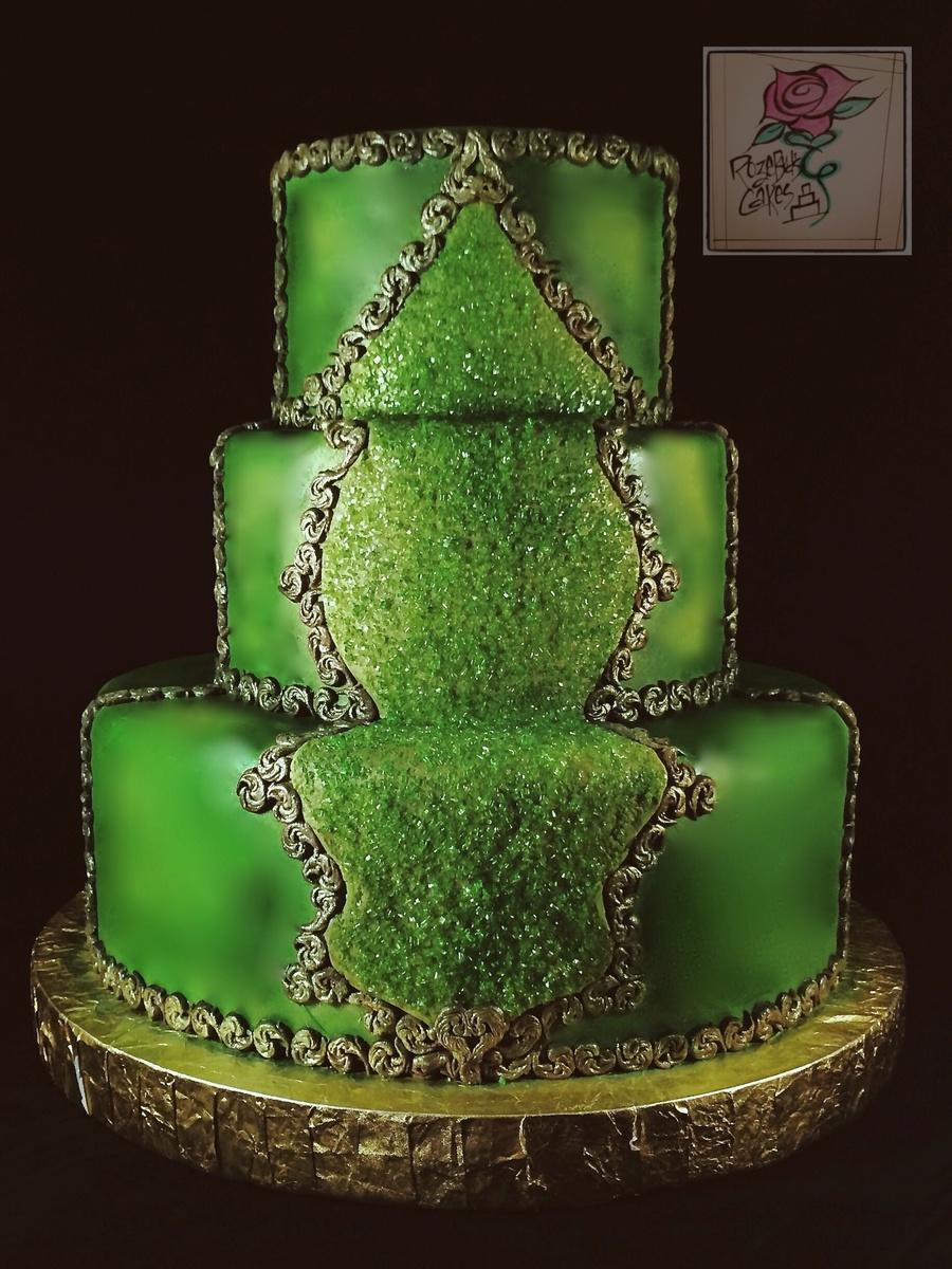Emerald Wedding Cake Cakecentral Com