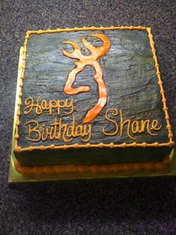 Browning Deer Head Birthday Cakes