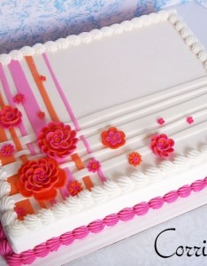 sheet cake made to coordinate with  wedding iced in bc mmf decorations also cakecentral rh