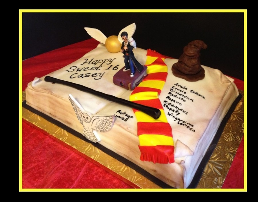 Harry Potter Spell Book Cake CakeCentral Com
