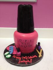 opi pink nail polish bottle spa