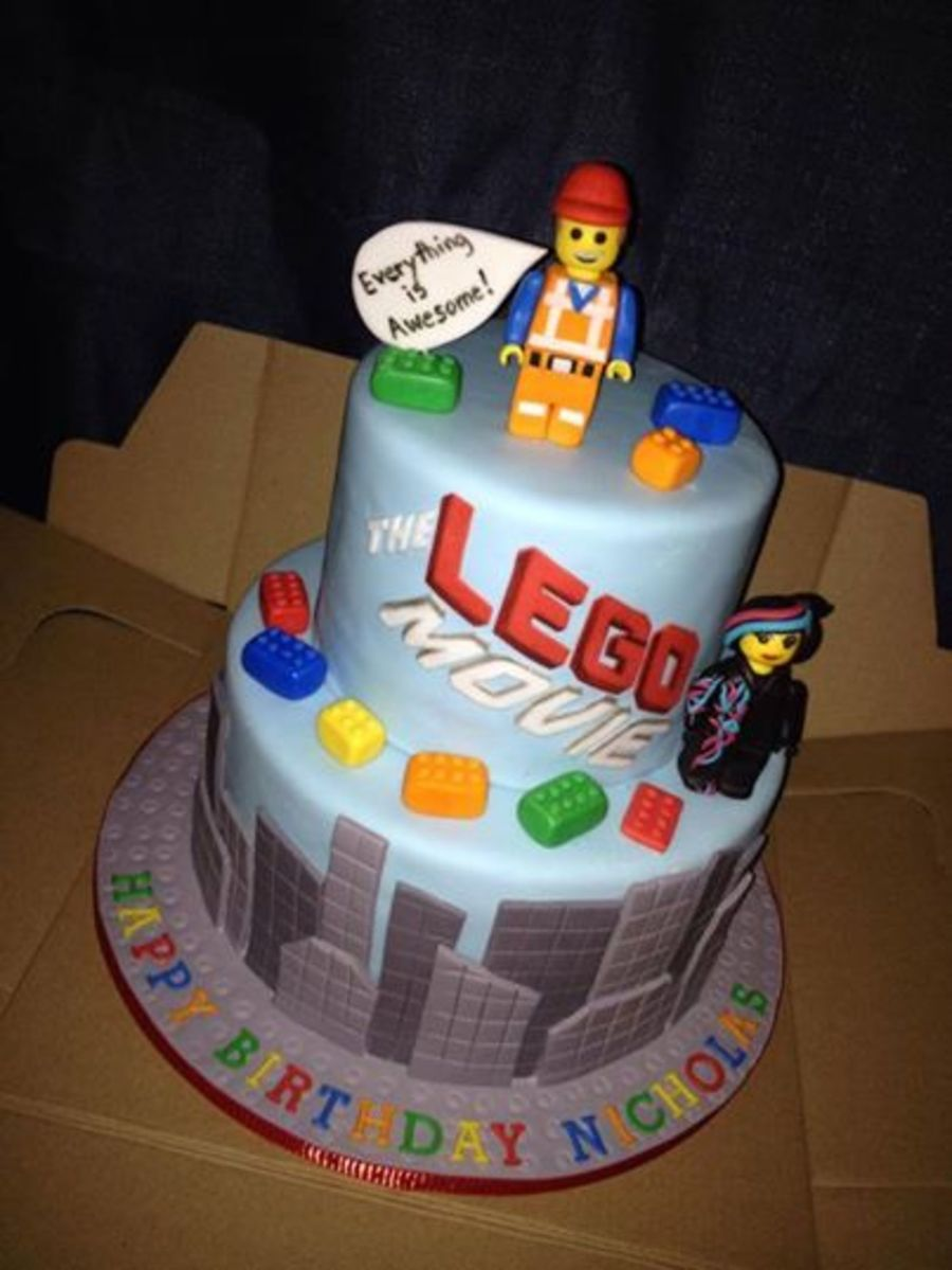 Lego Movie Cake Everything Hand Made And Edible  CakeCentralcom