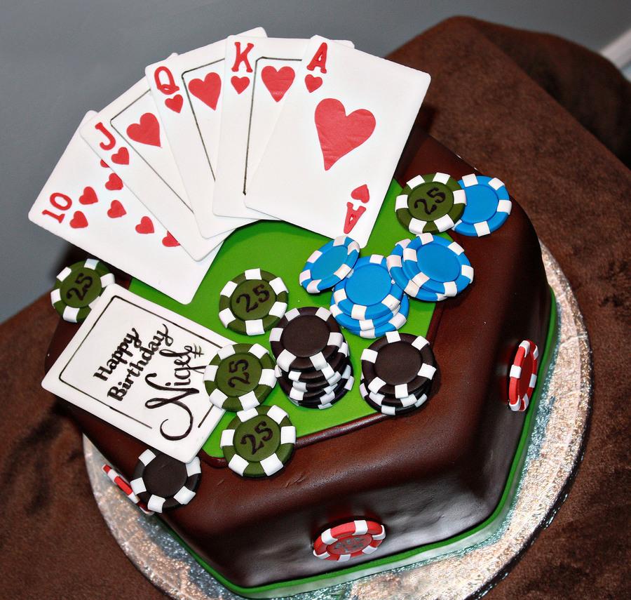 Poker Birthday Cake CakeCentral Com