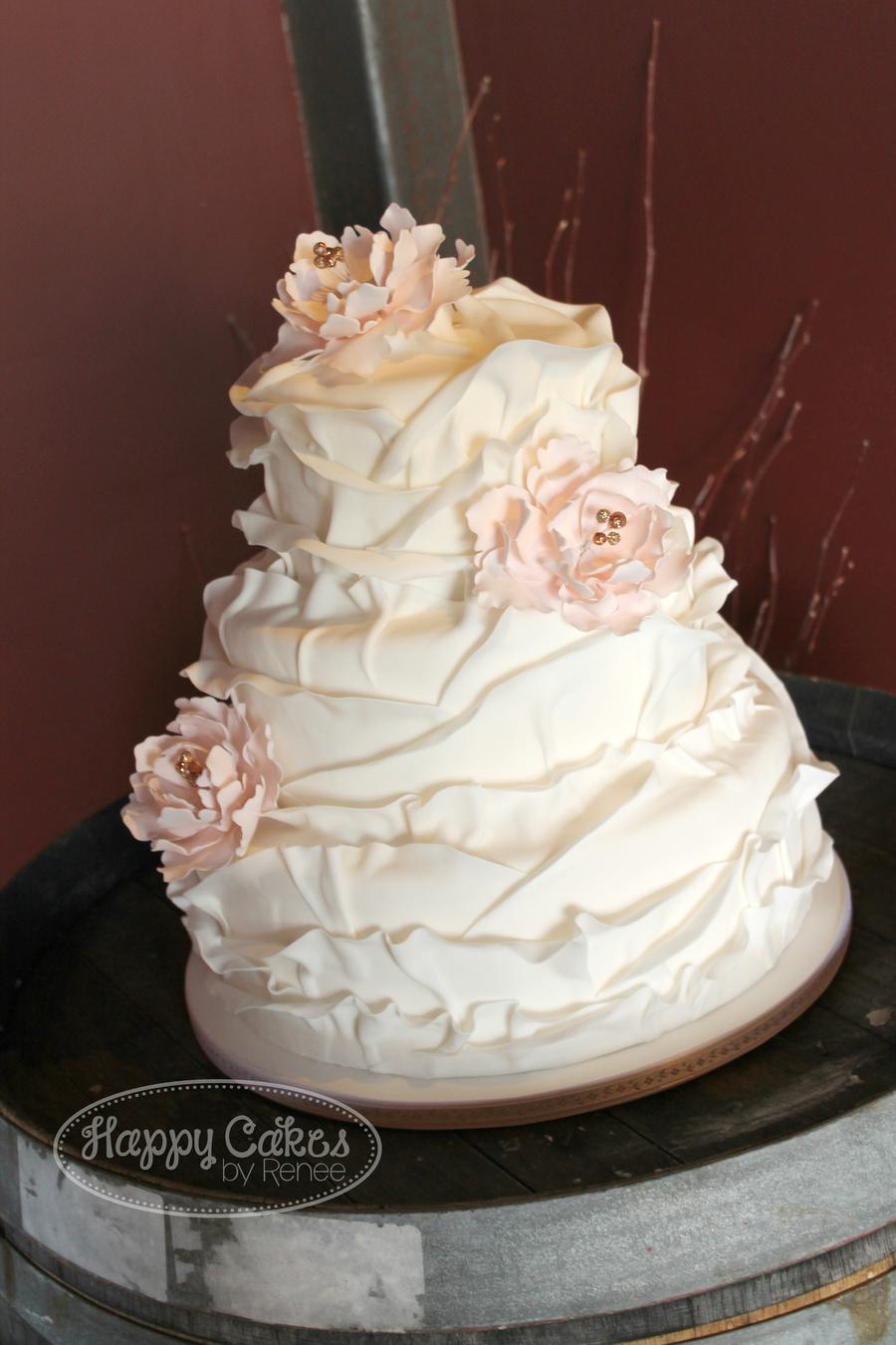 Ruffled Petal Cake Cakecentral Com