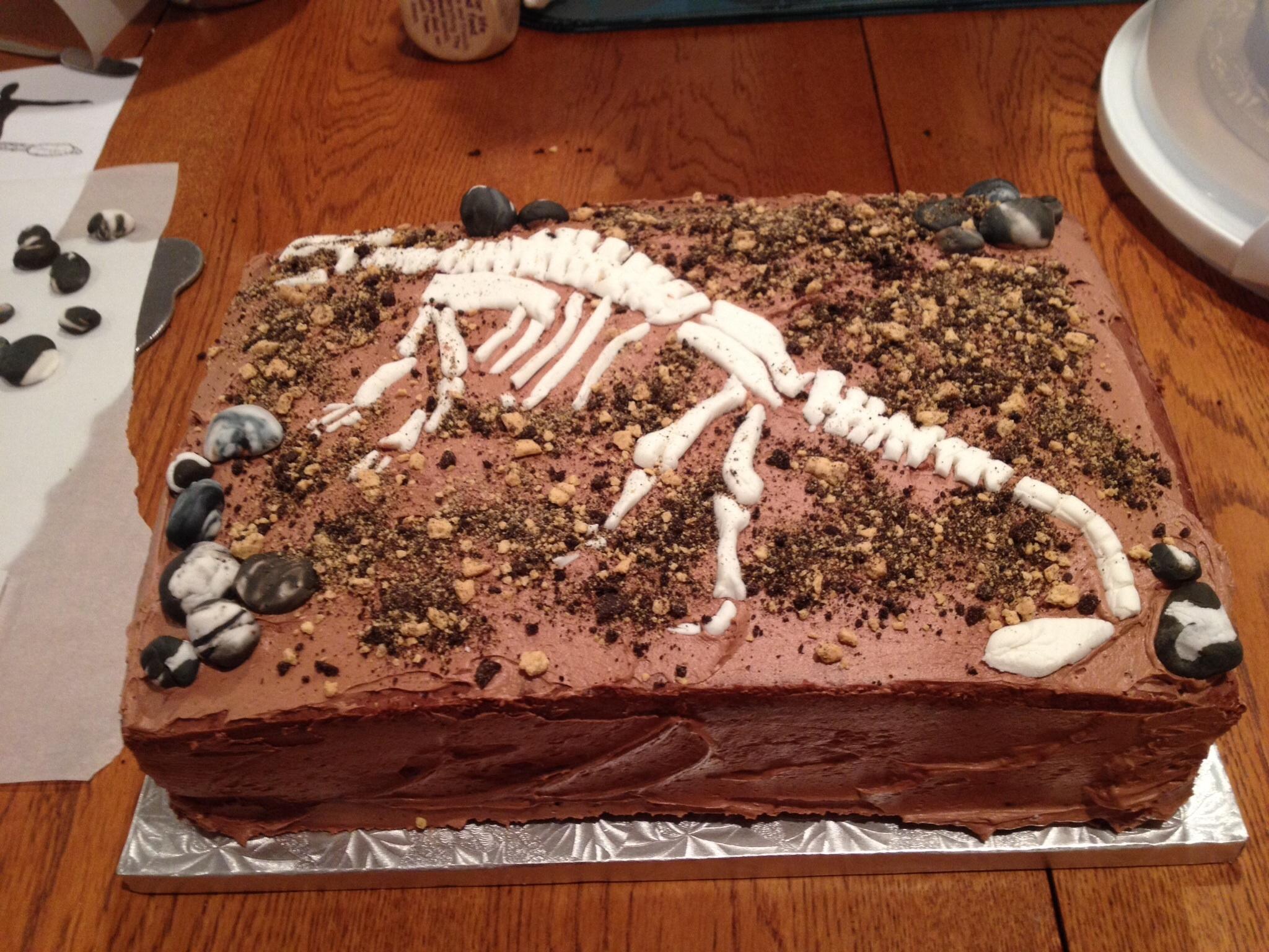 Kids Dinosaur Fossil Cake Cakecentral Com