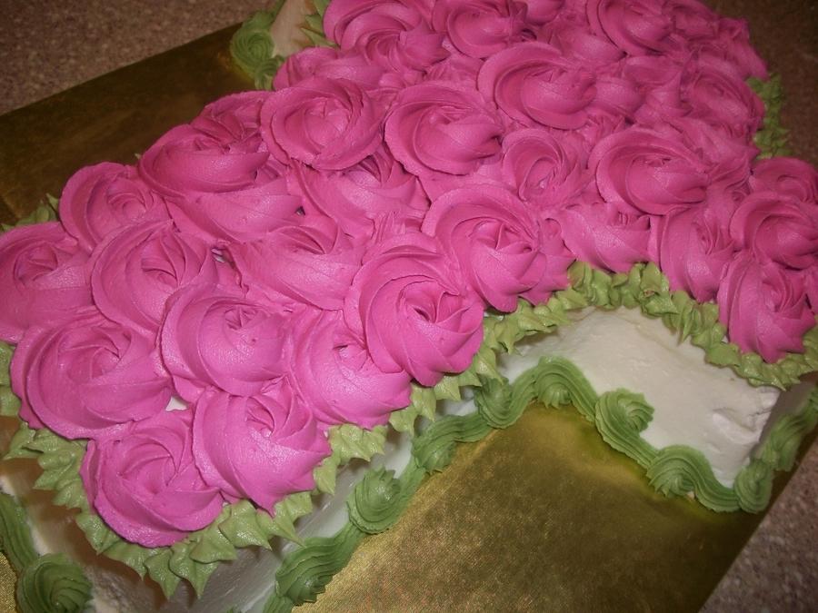 Flower Christening Cake
