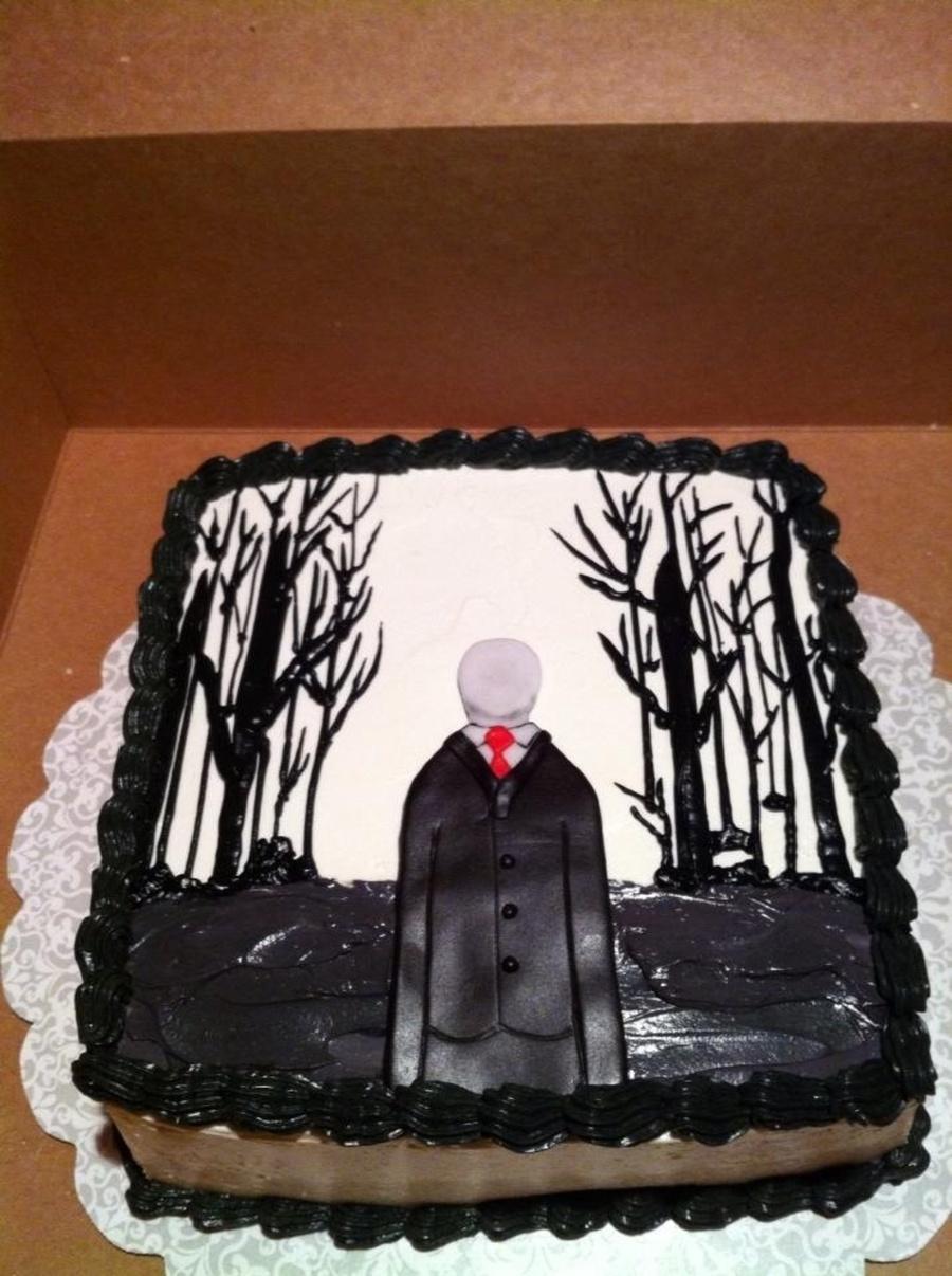 Slender Man Cake Cakecentral Com