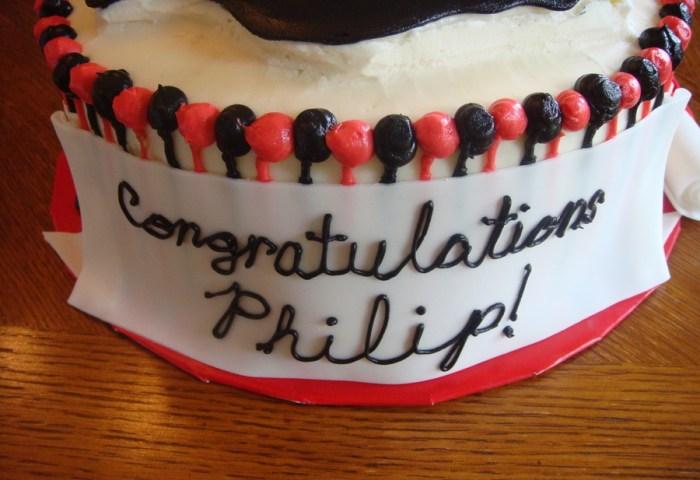 Panther Graduation Cake Cakecentralcom