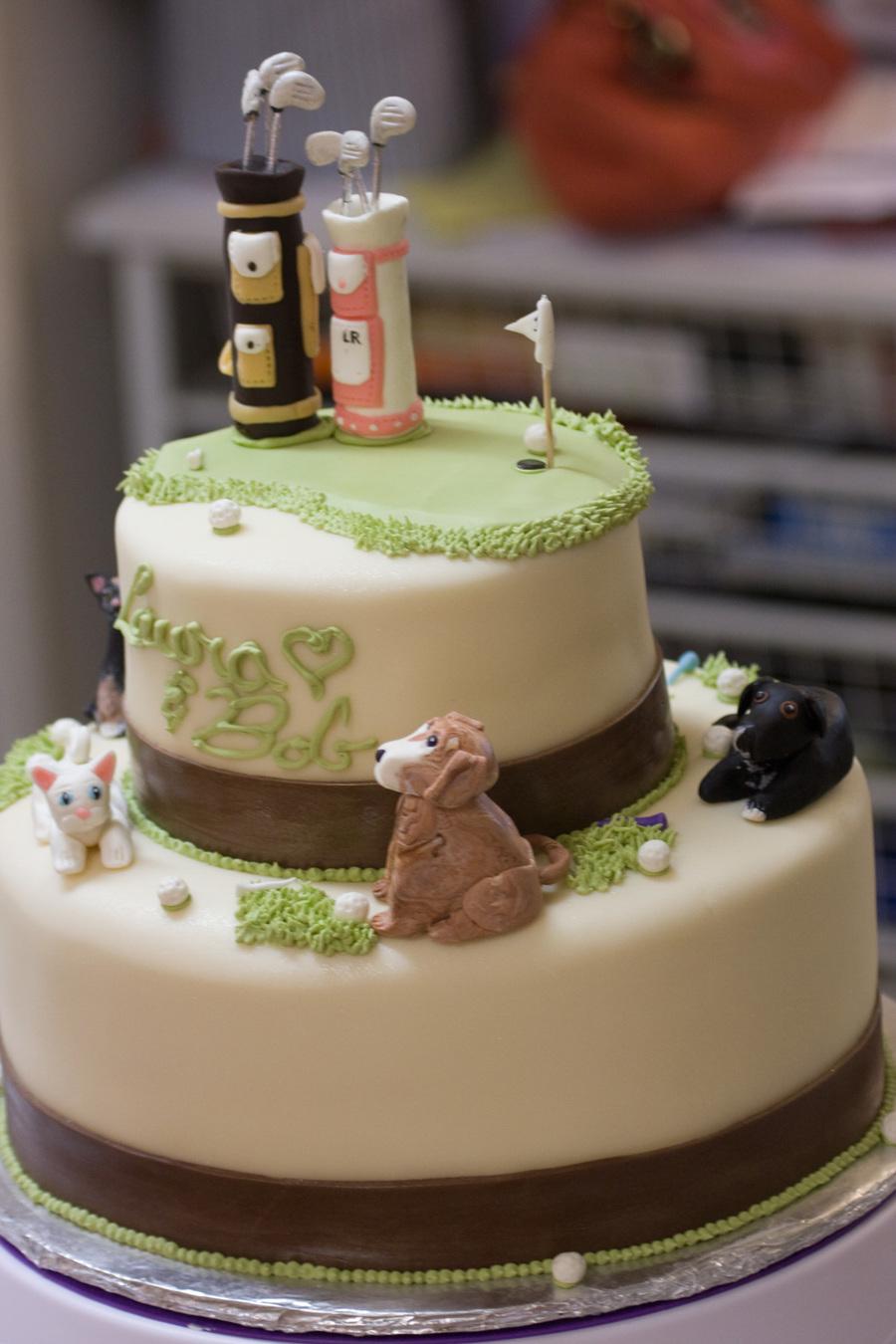 Golf Wedding Cake  CakeCentralcom
