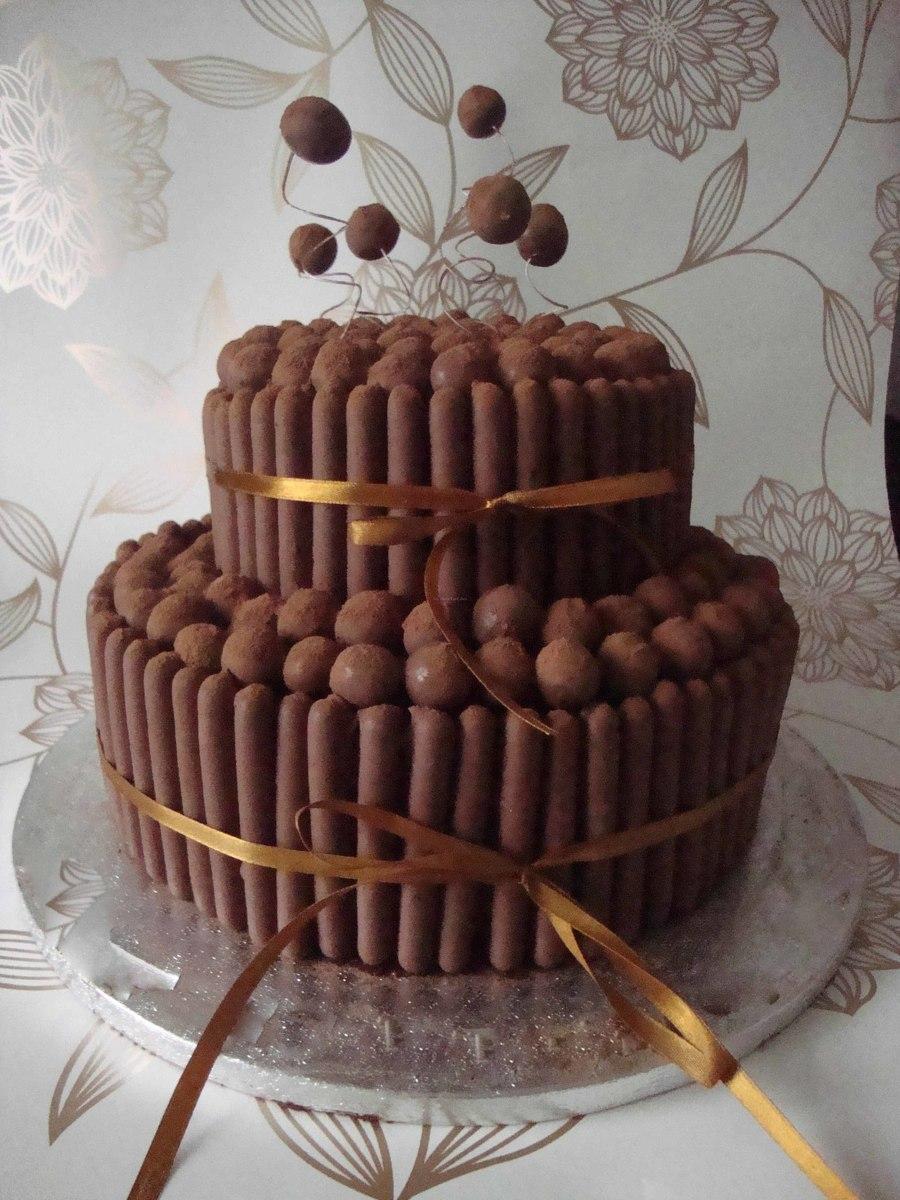 Tiered Chocolate Malteser Cake Cakecentral Com