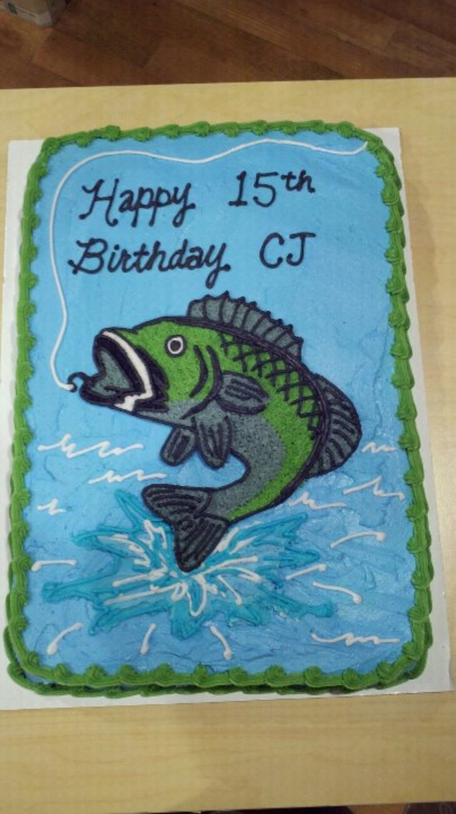 Bass Fish Birthday Cake  CakeCentralcom