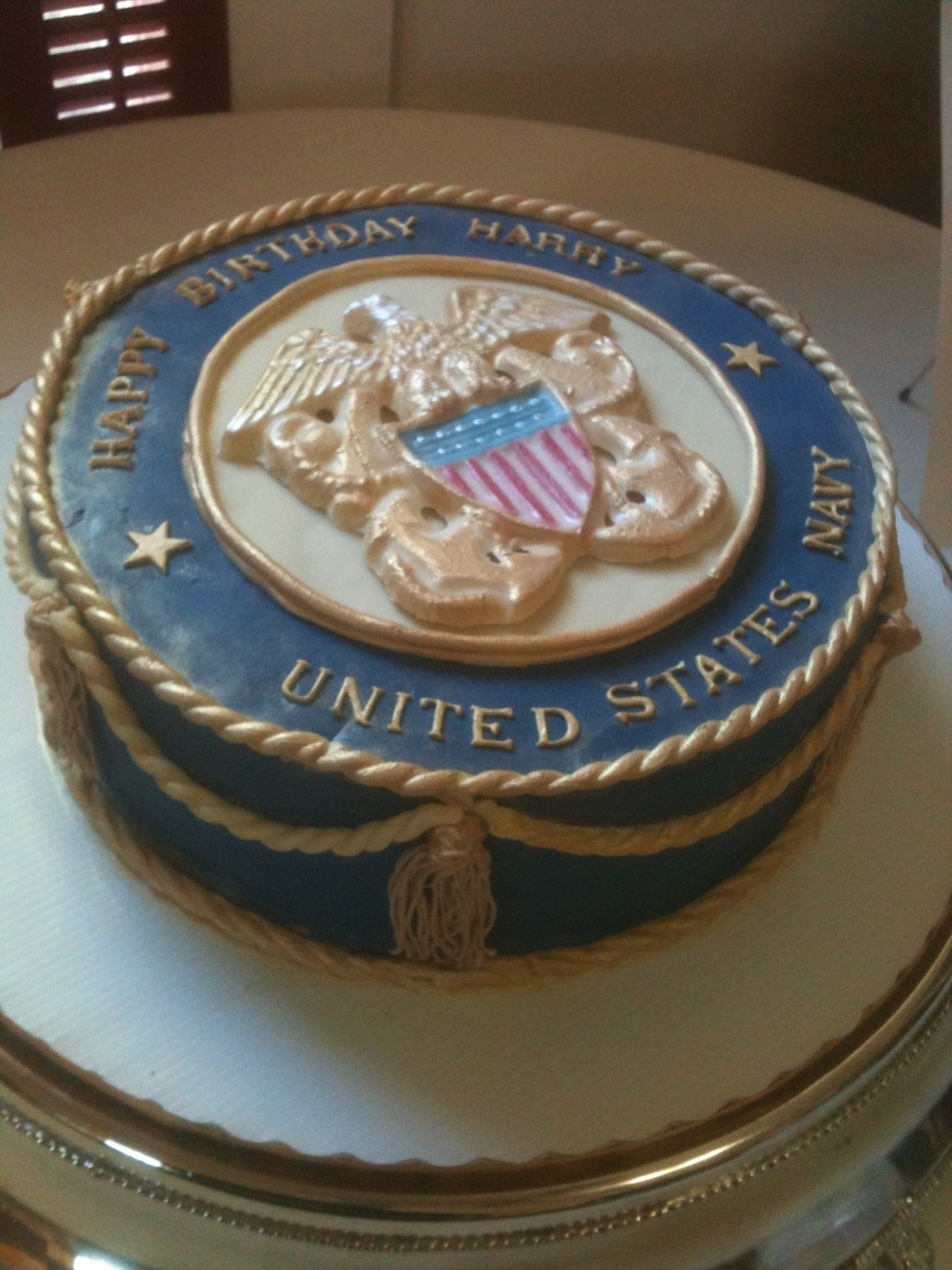 Birthday Cake For An 80yr Old Retired Naval Officer