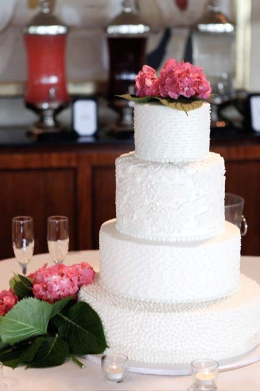 4 Tier Buttercream Wedding Cake  CakeCentralcom