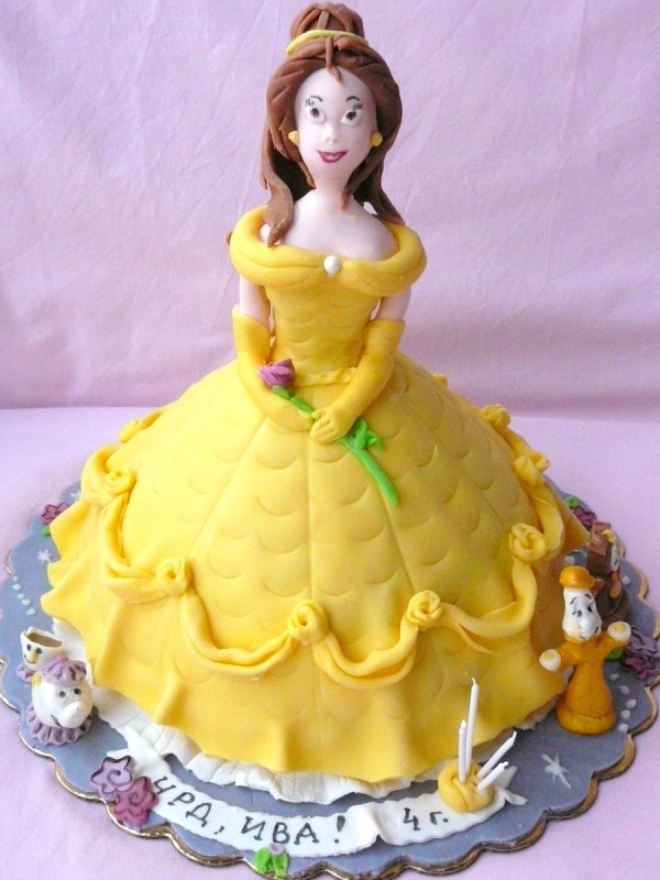Beauty And Beast Cake - Bell