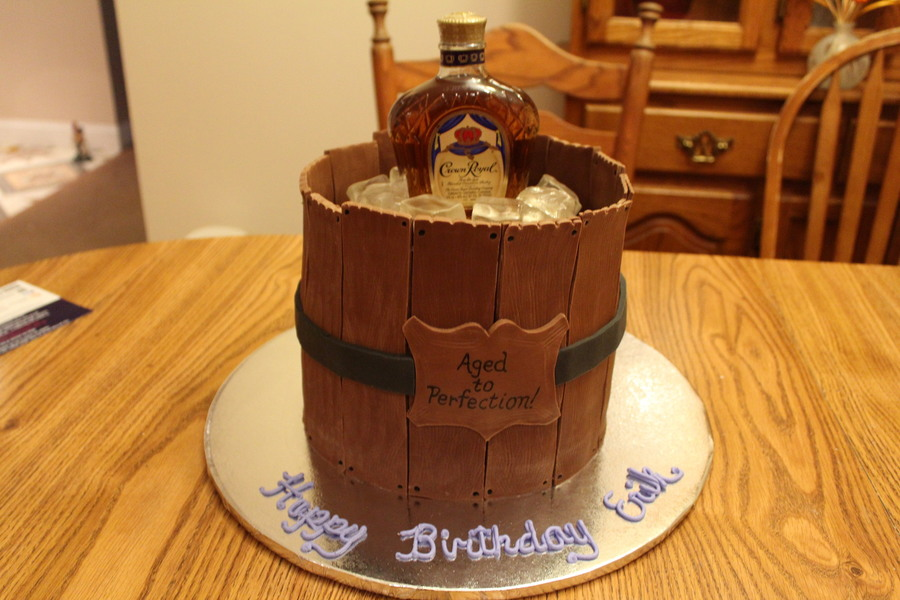 Old Barrel Birthday Cake Made For My Brother In Laws