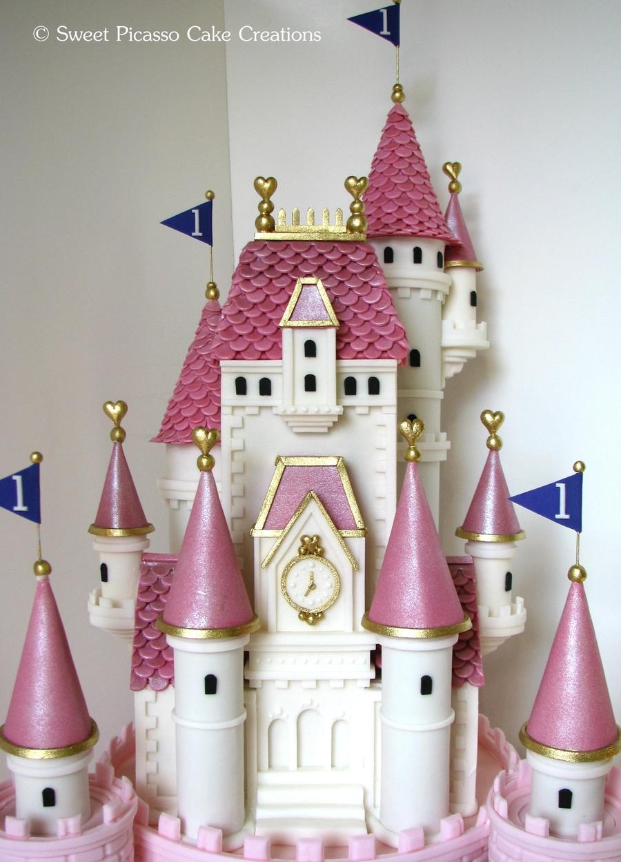 Princess Pink Castle Cake Cakecentral Com