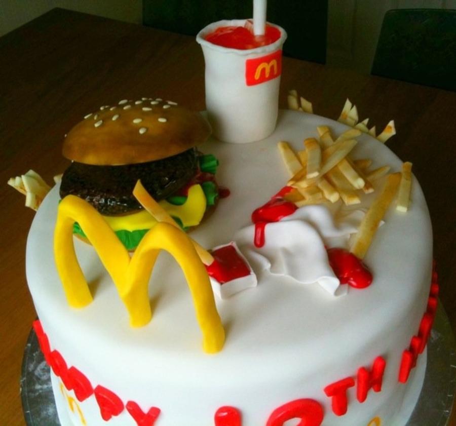 Mcdonalds Birthday Cake  CakeCentralcom