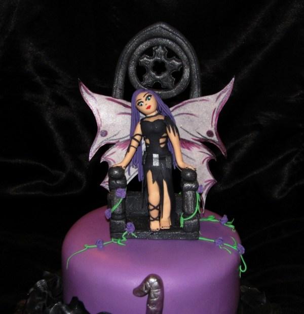 Gothic Fairy Birthday Cake