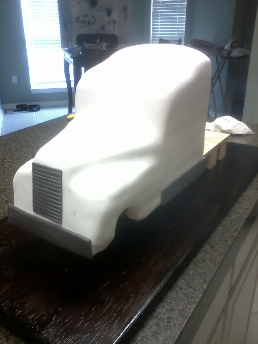 Semi Truck Groom S Cake First Sculpted Cake