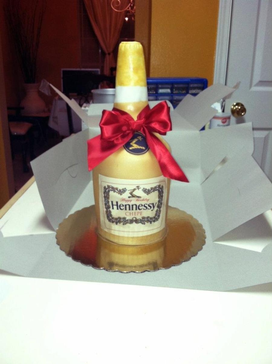 Hennessy Bottle Cake Cakecentral Com