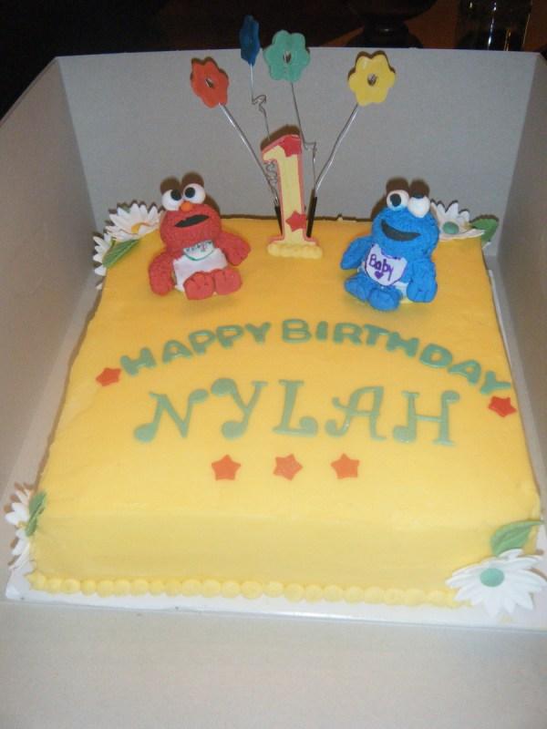 Sesame Street Beginnings Birthday Cake