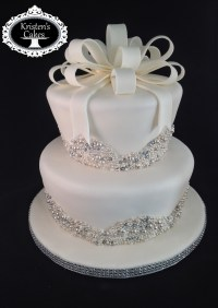 Bling Bridal Shower Cake - CakeCentral.com