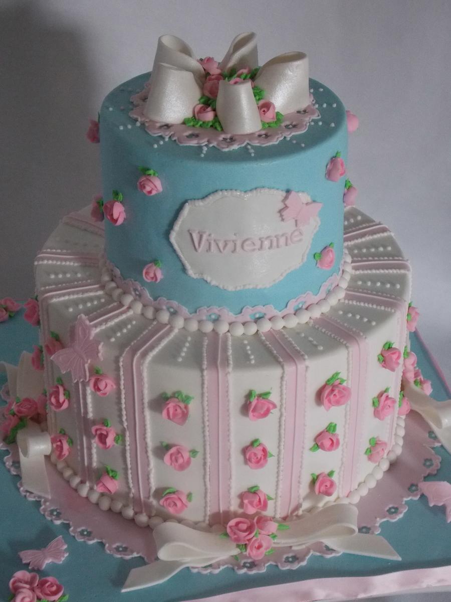 First Birthday And Christening Cake