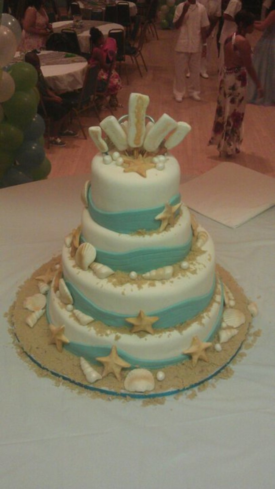Beach Themed Quinceanera Cake  CakeCentralcom