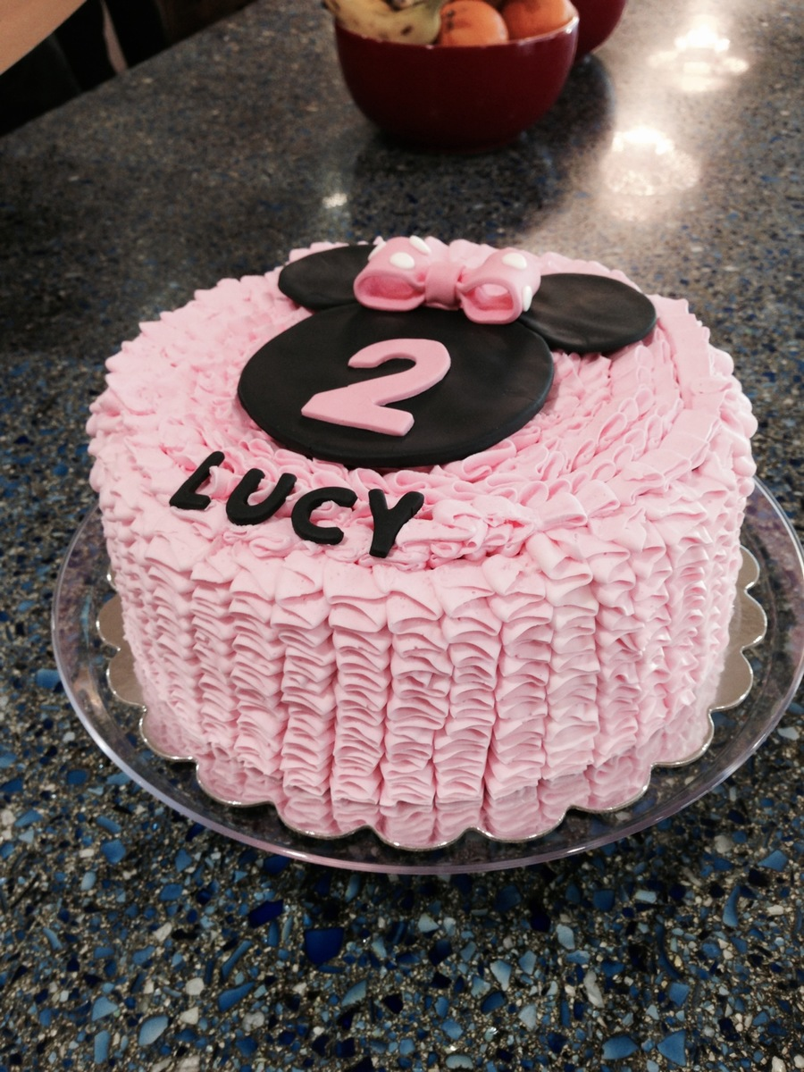 Minnie Mouse Ruffled Cake Cakecentral Com