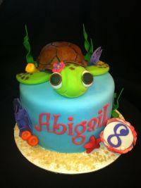 Sea Turtle Birthday Cake - CakeCentral.com