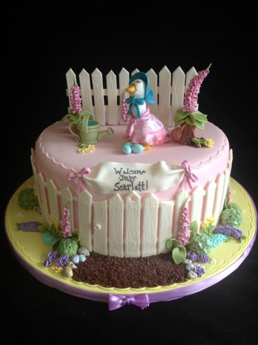 The Tale Of Jemima Puddle Duck Baby Shower Cake