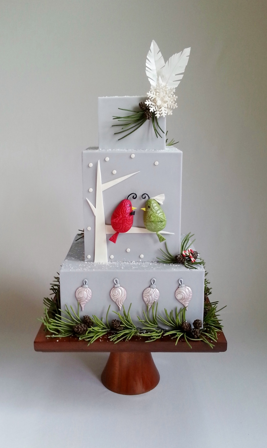This Was My Cake For Cake Cental Magazine Vol 4 Issue 12 The Theme Was Holiday Wedding Birds