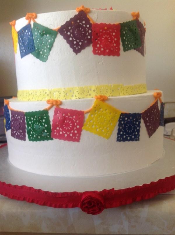 Papel Picado Fiesta Cake