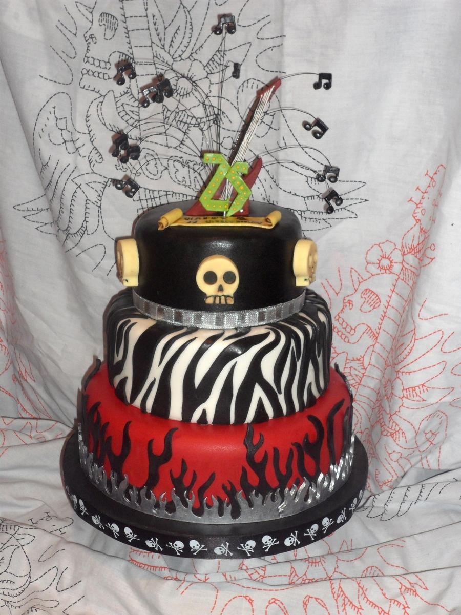 Rockin 25th Birthday Cake Cakecentral Com