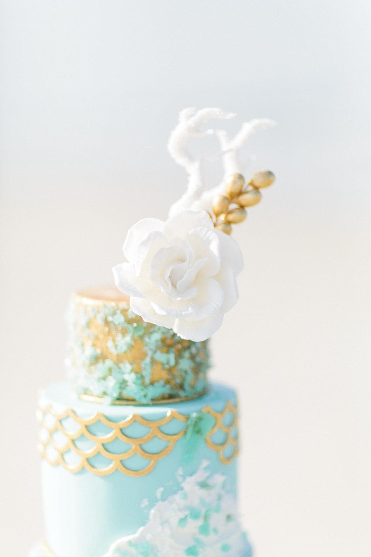 Sea Glass Wedding Cake  CakeCentralcom