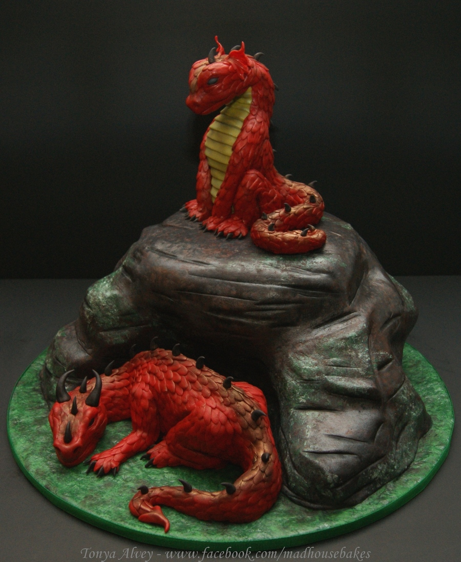 My Dragons And Cave Cake  CakeCentralcom