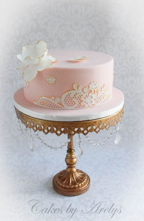 Lace Birthday Cake