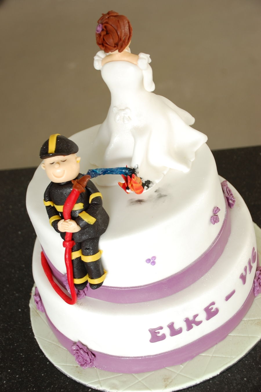 Fireman Wedding Cake  CakeCentralcom