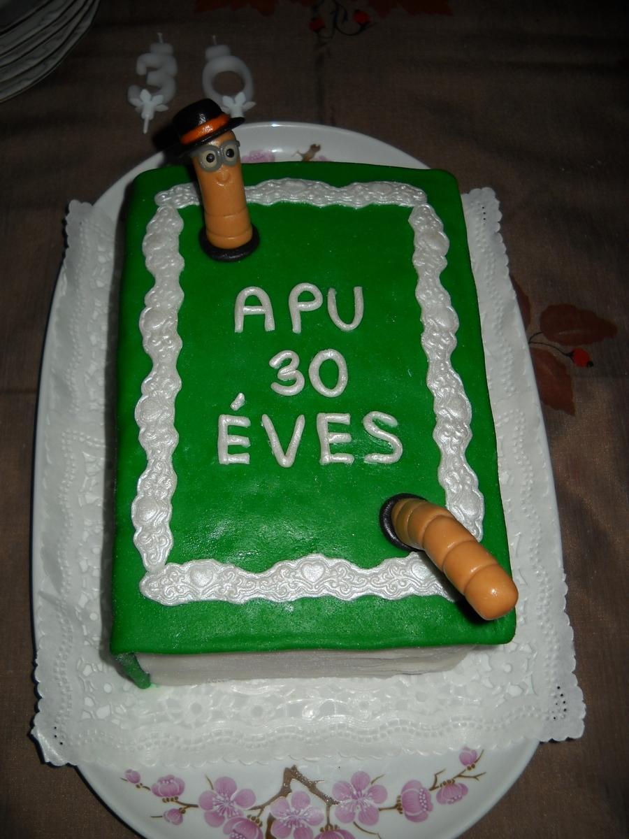 My Husband 30th Birthday Book Cakecentralcom