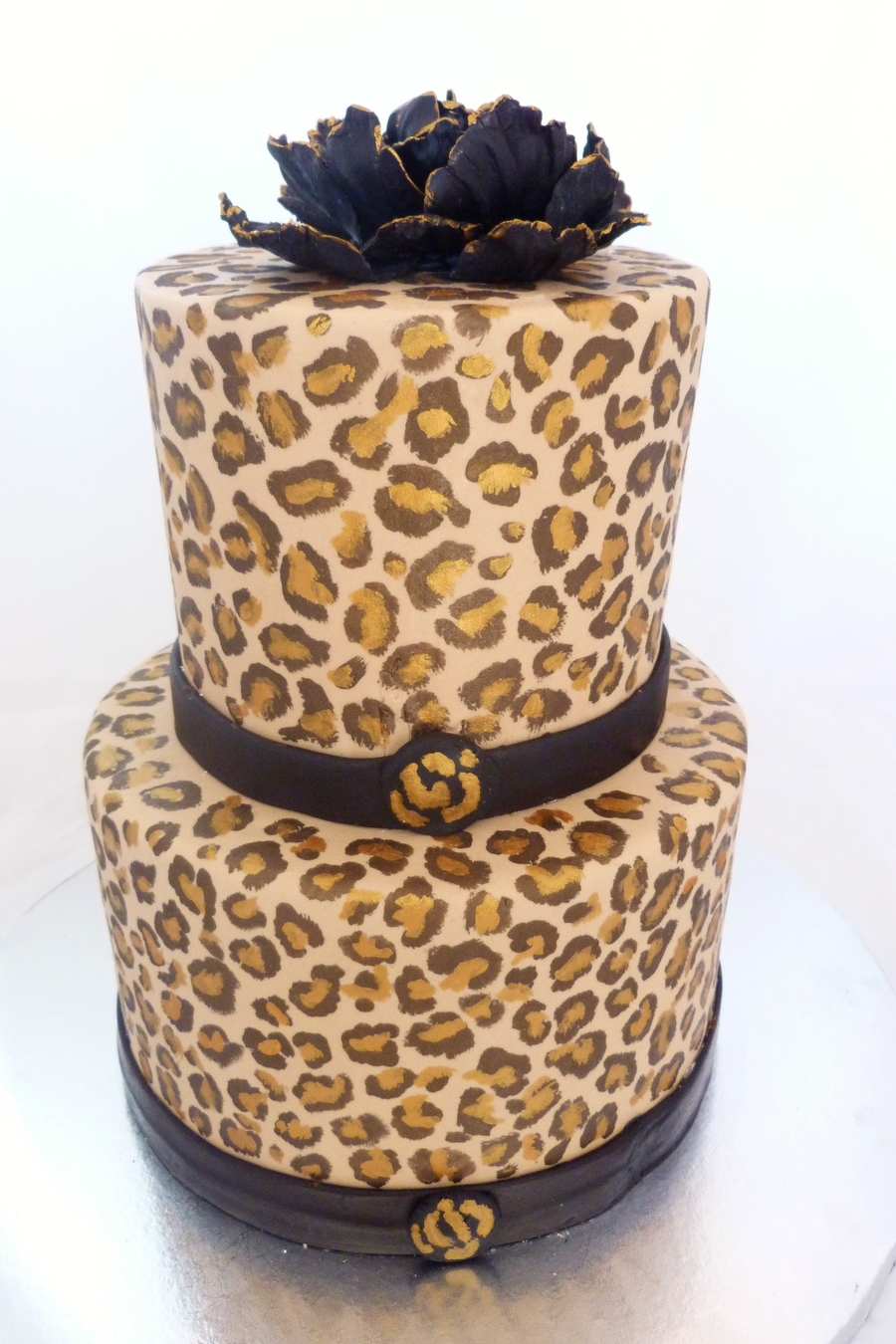 Cute Birthday Cake Wallpaper Handpainted Cheetah Print Cake Cakecentral Com
