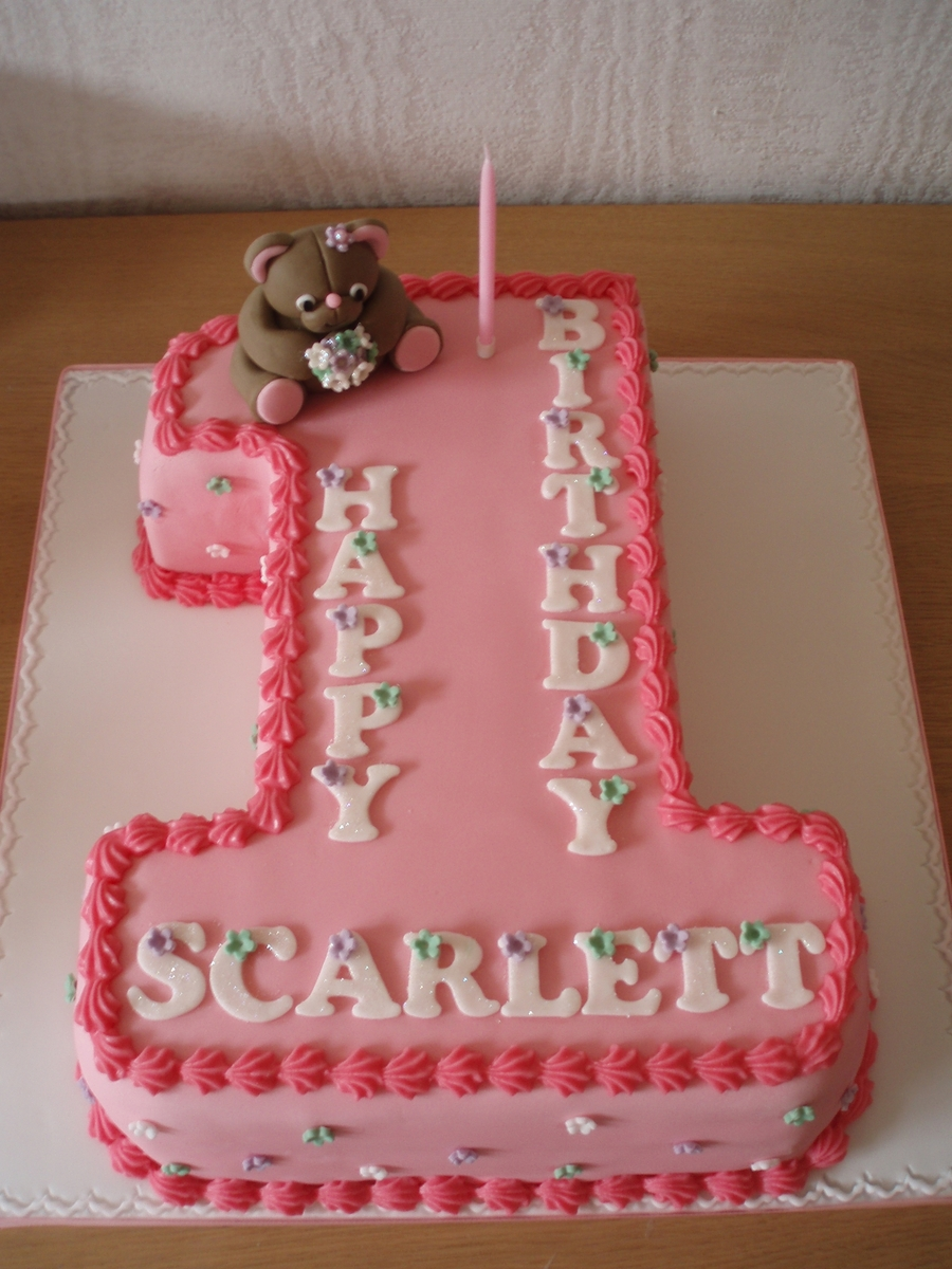 Number One Birthday Cake - CakeCentral.com