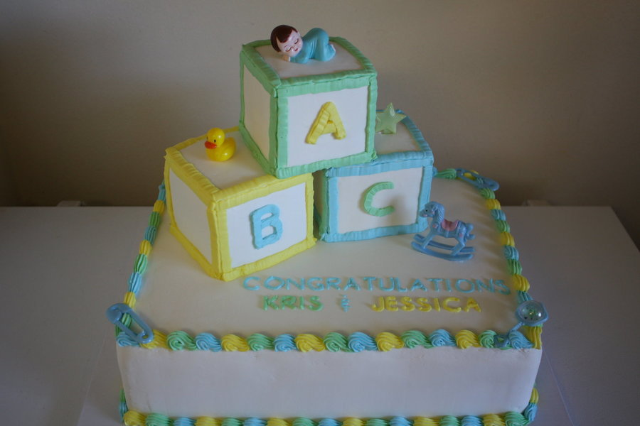 Baby Shower Boy Cakes