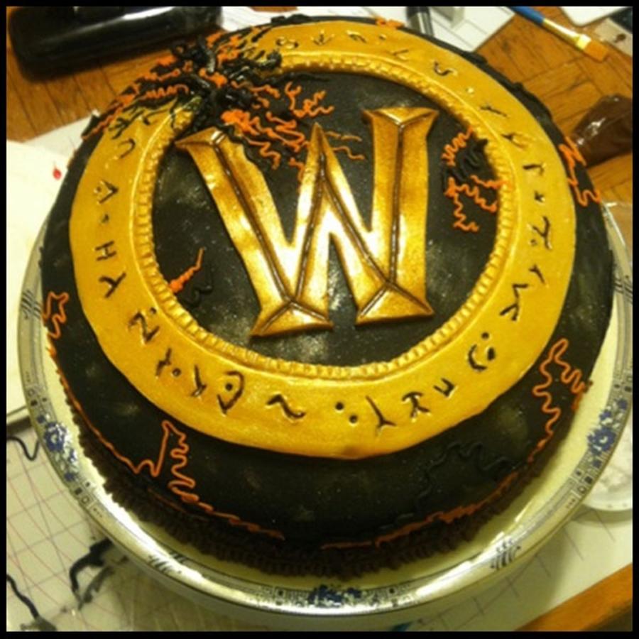 World Of Warcraft The Burning Crusades Logo Cake