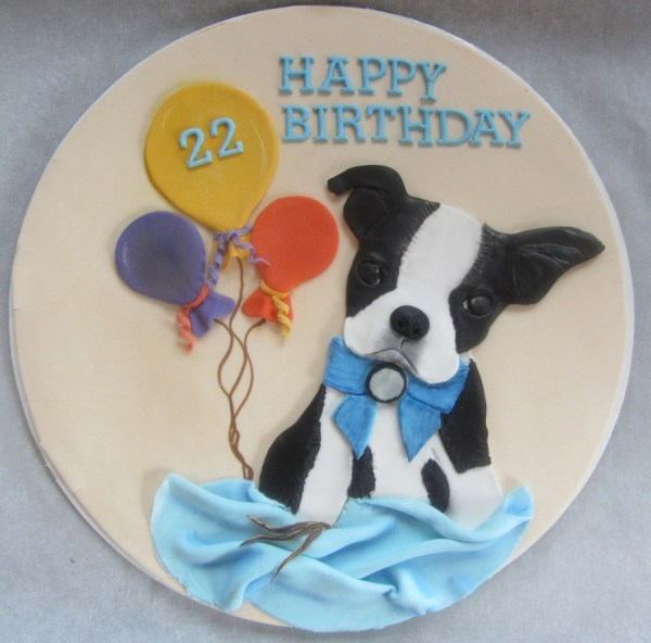Boston Terrier Cake Topper