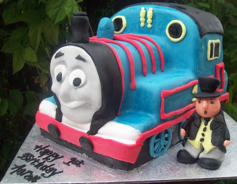 Thomas The Tank Engine Cake With Fat Controller