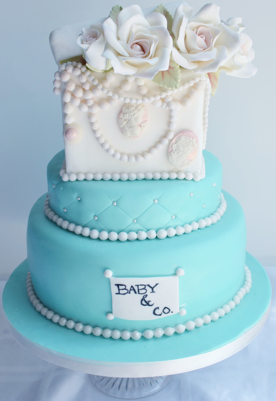 Tiffany And Co Baby Shower Cake CakeCentralcom