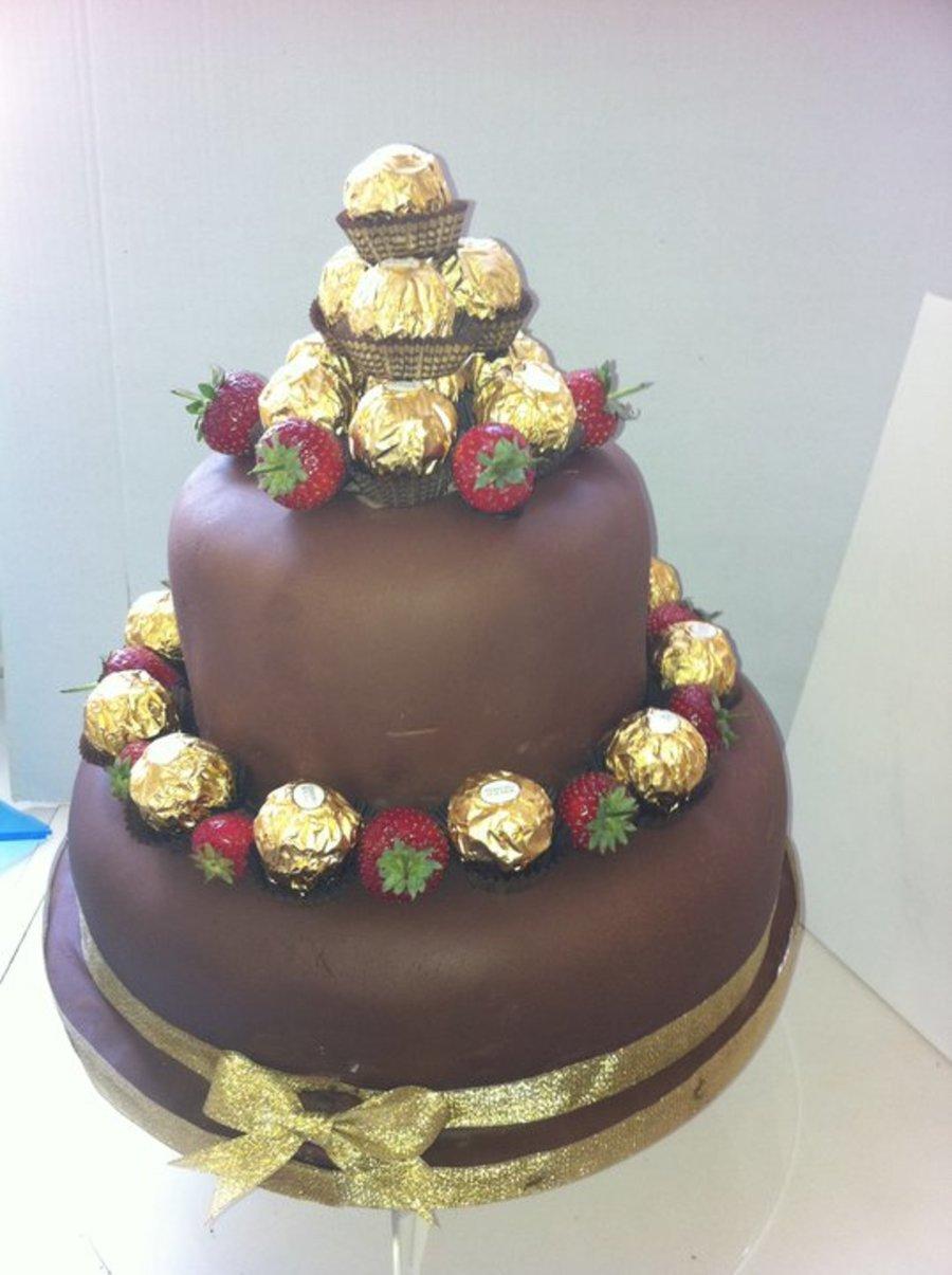 Chocolate Ferrero Rocher Cake  CakeCentralcom