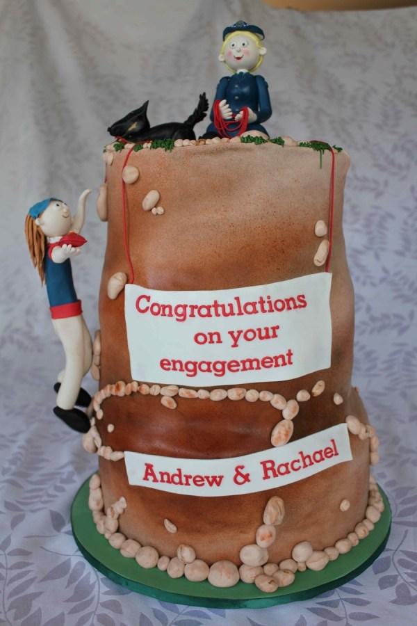 Rock Climbing Engagement Cake